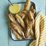 Soft Pretzel Sticks & Kid Chef Bakes - a fun cookbook now available for kids and all ages with easy recipes, tips on tools & supplies, baking tutorials, and lots of cake, cookies, pies, bread, & more recipes! SnappyGourmet.com