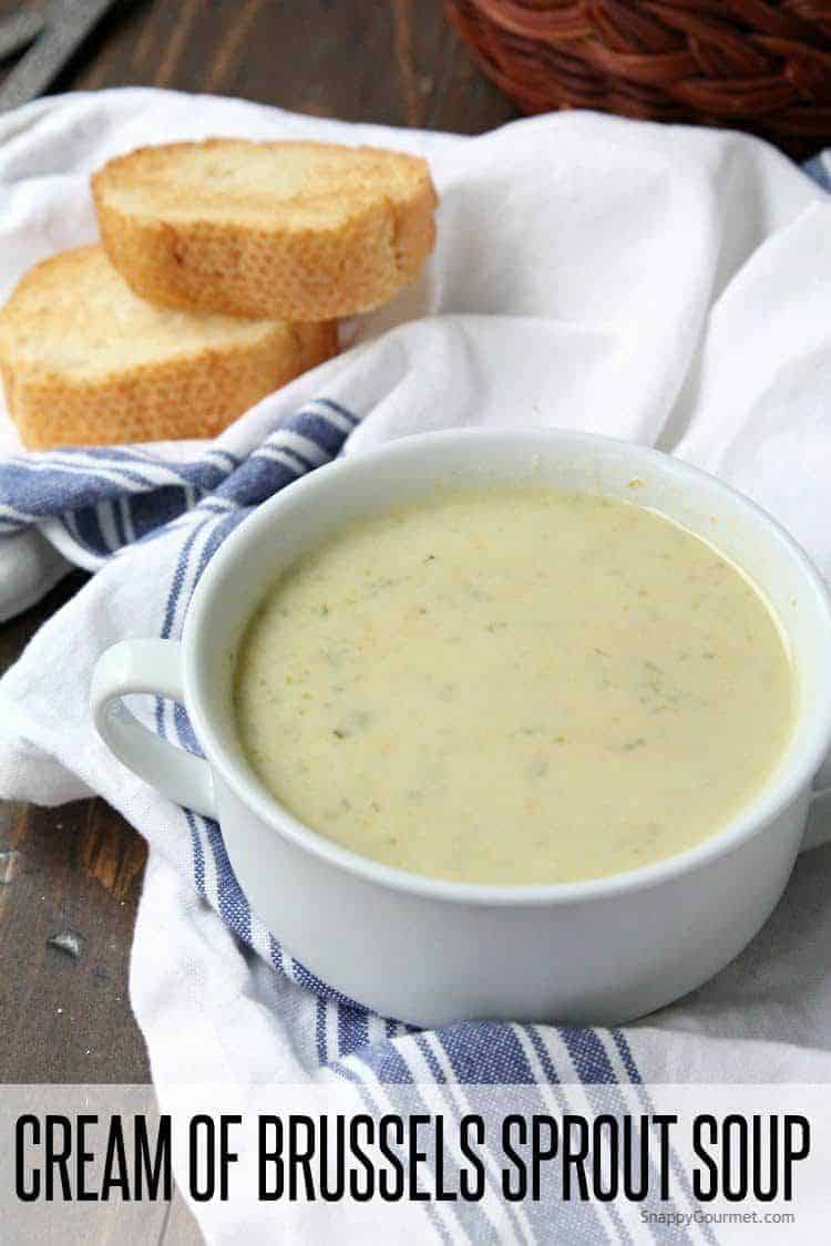 Cream of Brussels Sprout Soup recipe - easy one pot creamy Brussels sprout soup | SnappyGourmet.com
