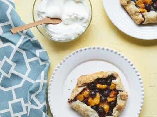 Mini Blueberry Peach Crostatas Recipe