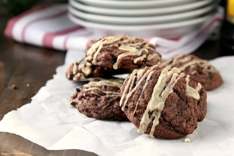 Mudslide Cookies Recipe - How to make a mudslide cookie just like the cocktail! SnappyGourmet.com