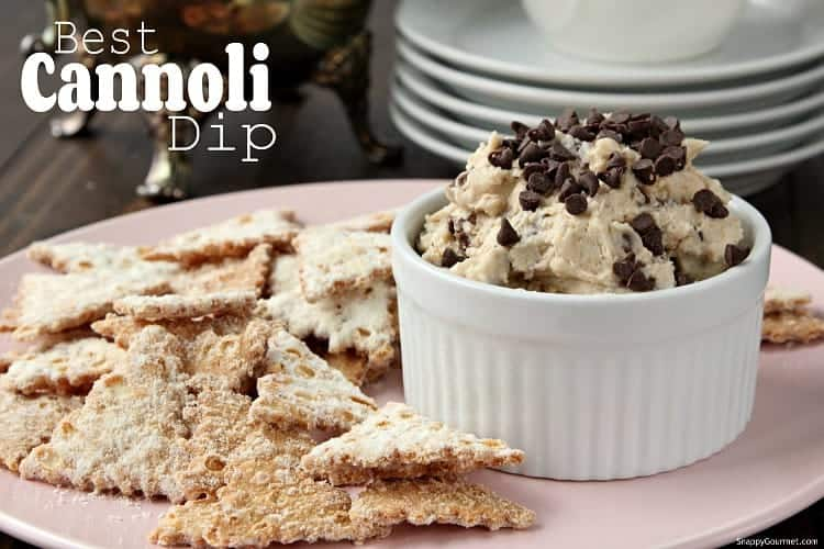 Best Cannoli Dip Recipe - Easy cannoli dip that is simple to make! SnappyGourmet.com