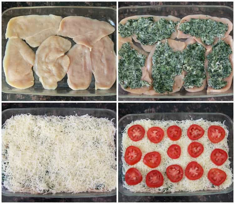 Easy Baked Chicken Florentine Recipe - easy low carb chicken dinner! SnappyGourmet.com