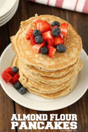 Almond Flour Pancakes Recipe - the best easy fluffy gluten free pancakes with almond flour