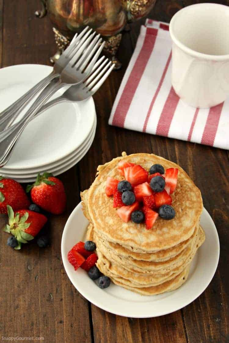 Almond Flour Pancakes Recipe - easy blender pancake recipe with almond flour