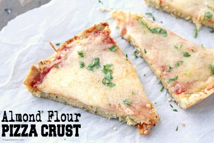 Almond Flour Pizza Crust slices