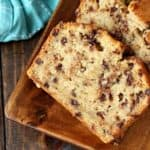 Easy Chocolate Chip Banana Bread Recipe - Easy moist banana bread with chocolate chips