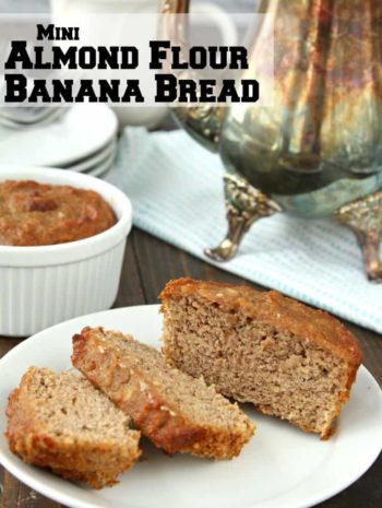 Almond Flour Banana Recipe - easy recipe for homemade mini gluten free banana bread loaves made in ramekins