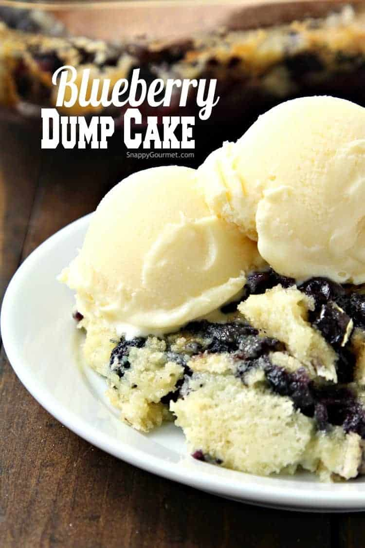 Blueberry Dump Cake Recipe - the best blueberry dump cake with fresh or frozen blueberries and cake mix. So easy!