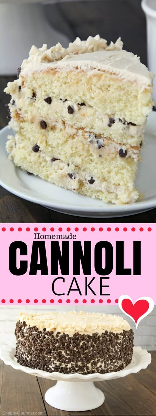 Cannoli Cake Recipe - the best homemade cannoli cake!