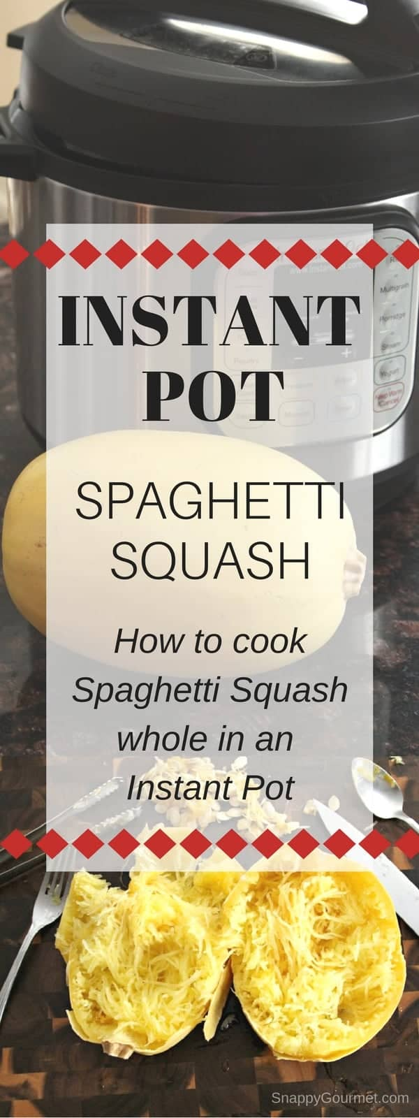 Instant Pot Spaghetti Squash - how to cook spaghetti squash whole