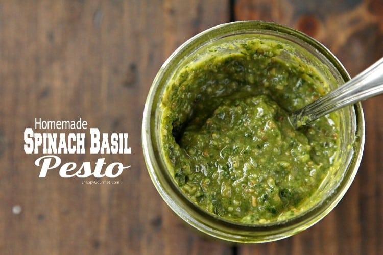 Spinach Basil Pesto Recipe - easy homemade pesto