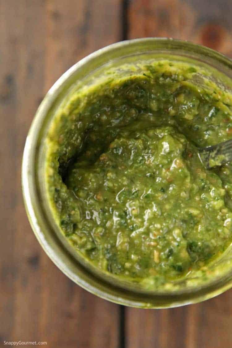 Spinach Basil Pesto Recipe - quick and easy homemade pesto
