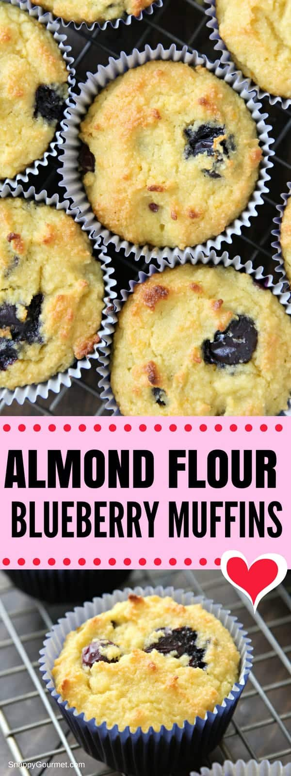 Almond Flour Blueberry Muffins Recipe - easy gluten free muffins that are homemade