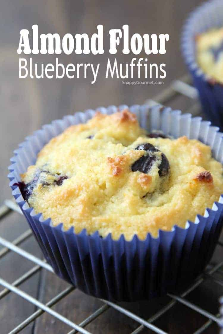 Almond Flour Blueberry Muffins Recipe - easy gluten free muffins with blueberries and orange