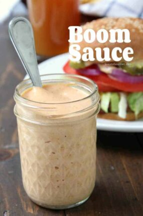 Boom Sauce Recipe - easy dipping sauce perfect for fries, burgers, veggies, and more