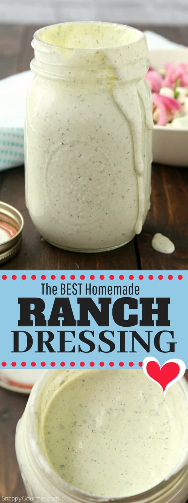 Best homemade Ranch Dressing recipe, so easy to make!