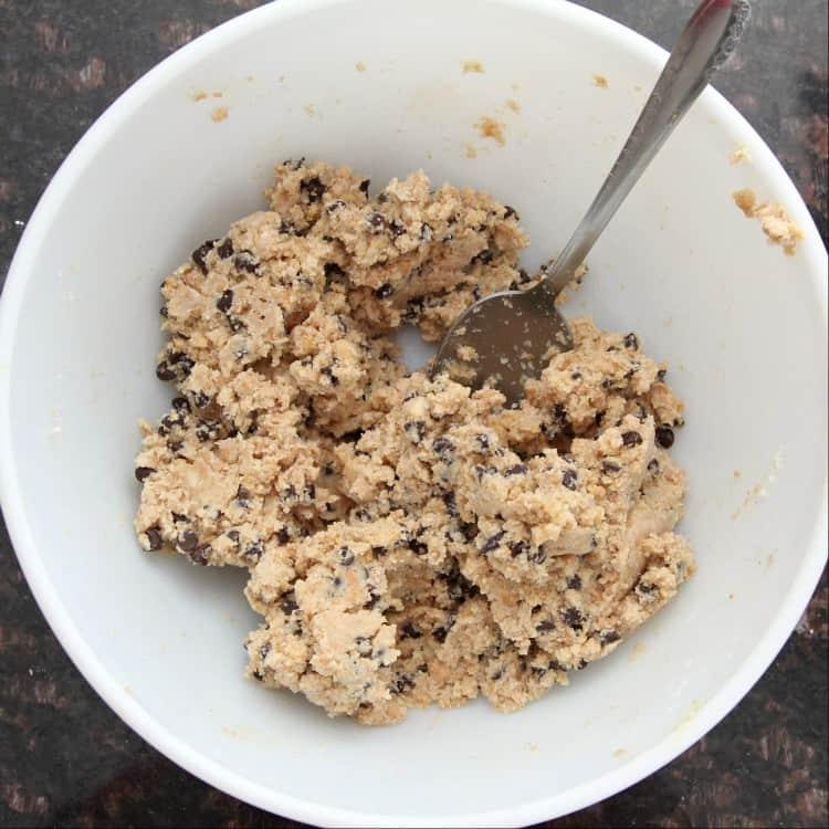 Cannoli Cream Chocolate Truffles - dough in bowl