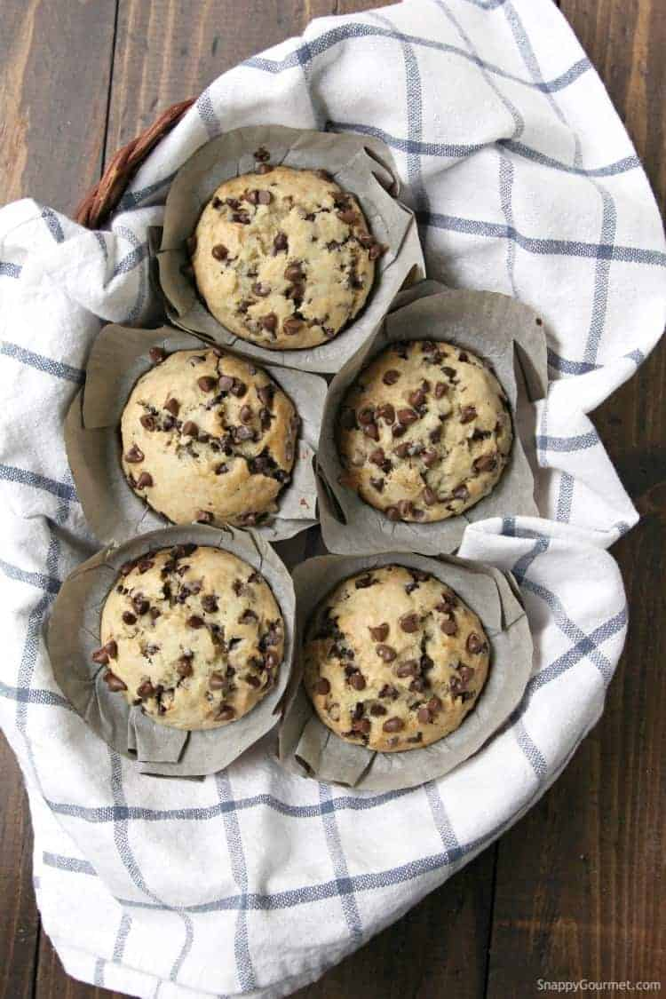 Chocolate Chip Banana Bread Muffins recipe - how to make muffins with banana and chocolate chips
