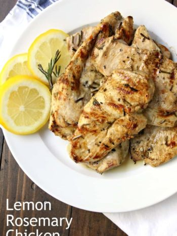 Grilled Lemon Rosemary Chicken - quick and easy chicken on the grill plus how long to grill chicken