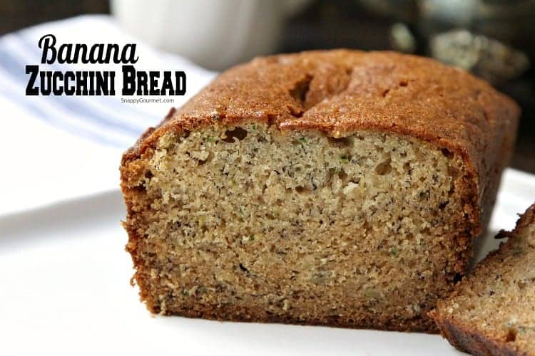 Banana Zucchini Bread - also known as Zucchini Banana Bread. Two breads in one!