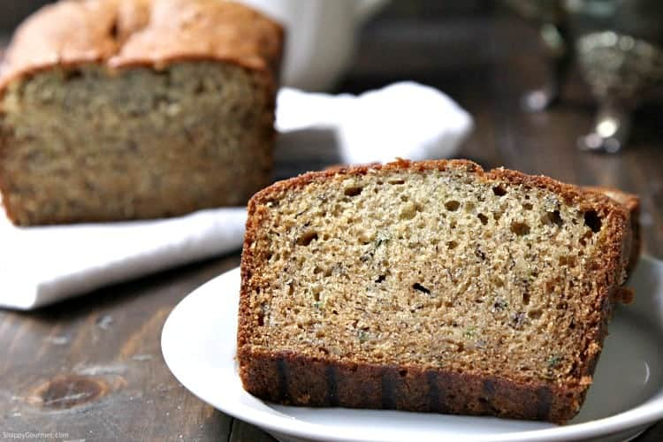 Banana Zucchini Bread - Homemade moist bread with zucchini and banana