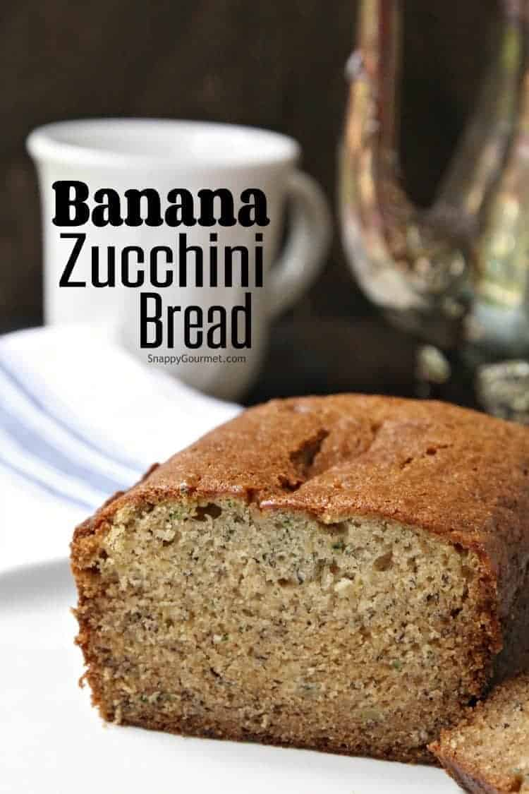 Banana Zucchini Bread - easy homemade zucchini bread recipe with mashed banana