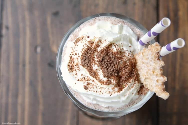 Homemade Cannoli Milkshake - how to make the best milkshake that is a twist on a cannoli