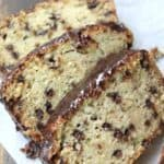 Chocolate Chip Zucchini Bread - easy zucchini bread recipe and best way to use up leftover zucchini