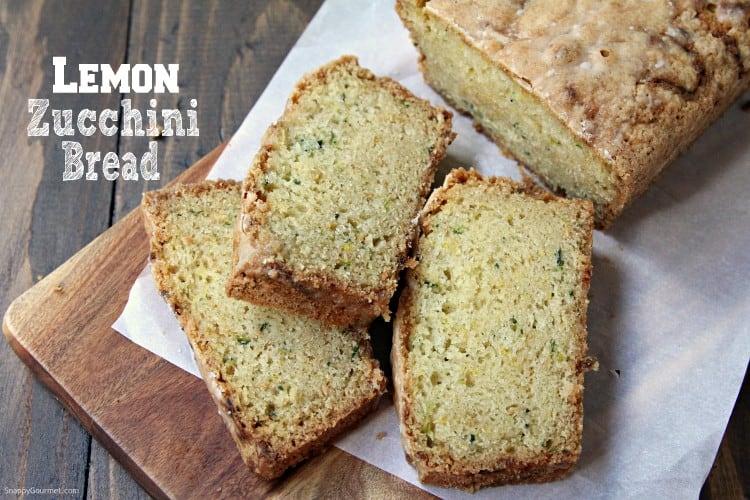 Lemon Zucchini Bread - How to make zucchini bread with fresh zucchini and lemon