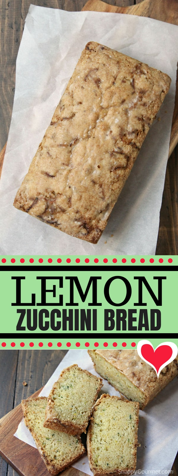 Lemon Zucchini Bread - easy zucchini bread with with fresh lemon and a lemon glaze