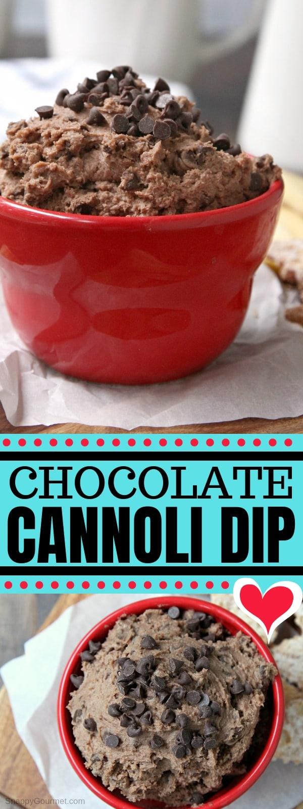 Chocolate Cannoli Dip - an easy homemade dessert dip