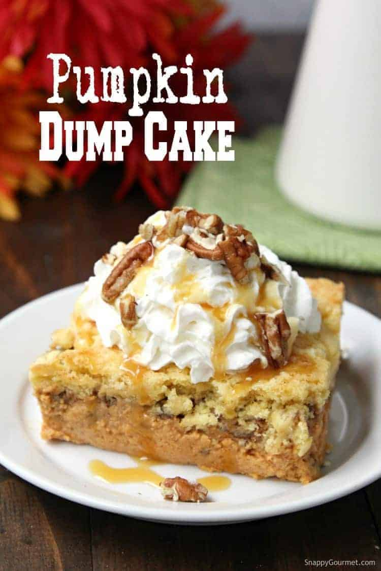 Pumpkin Dump Cake - how to make a dump cake with canned pumpkin