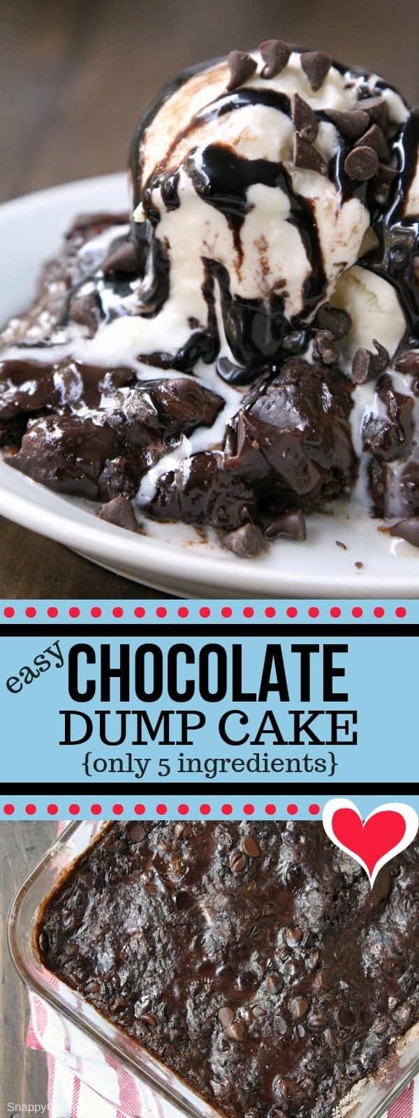 Chocolate Dump Cake (Easy Dump Cake Recipe) - Snappy Gourmet
