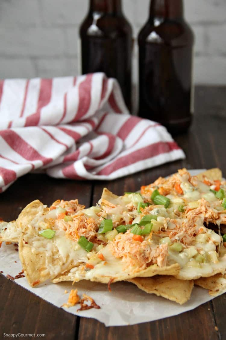 Buffalo Chicken Nachos on table