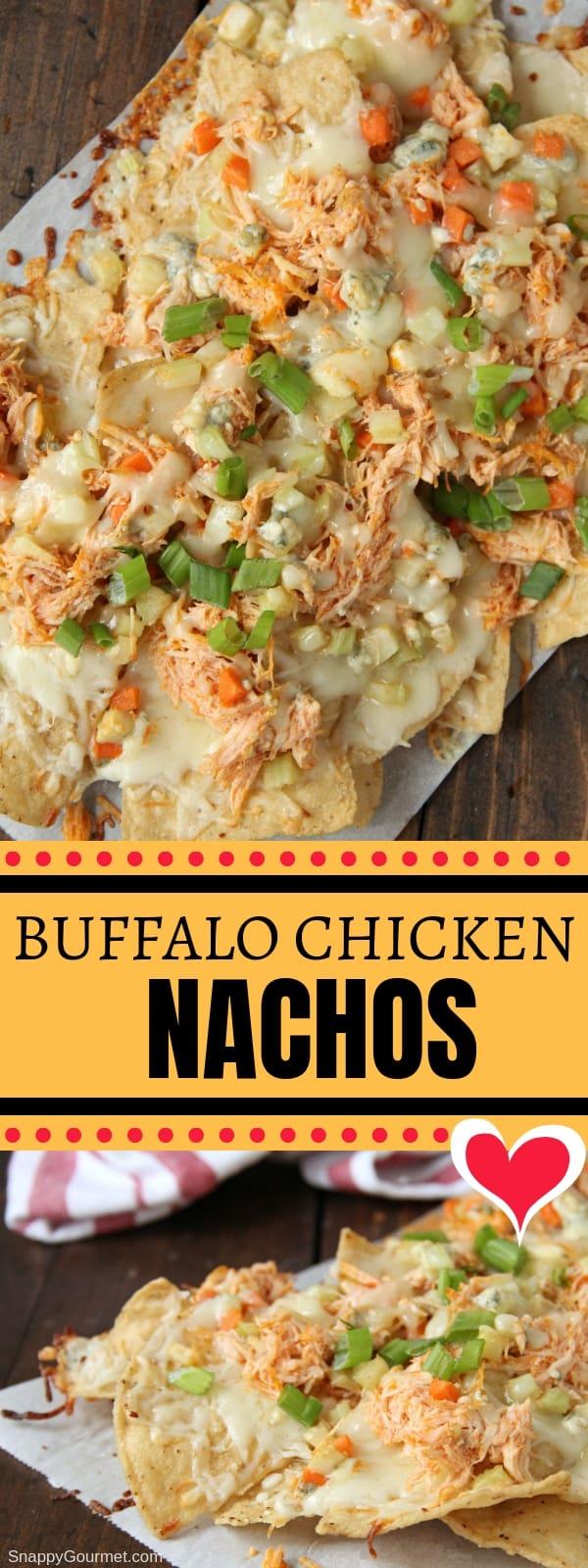 Buffalo Chicken Nachos collage