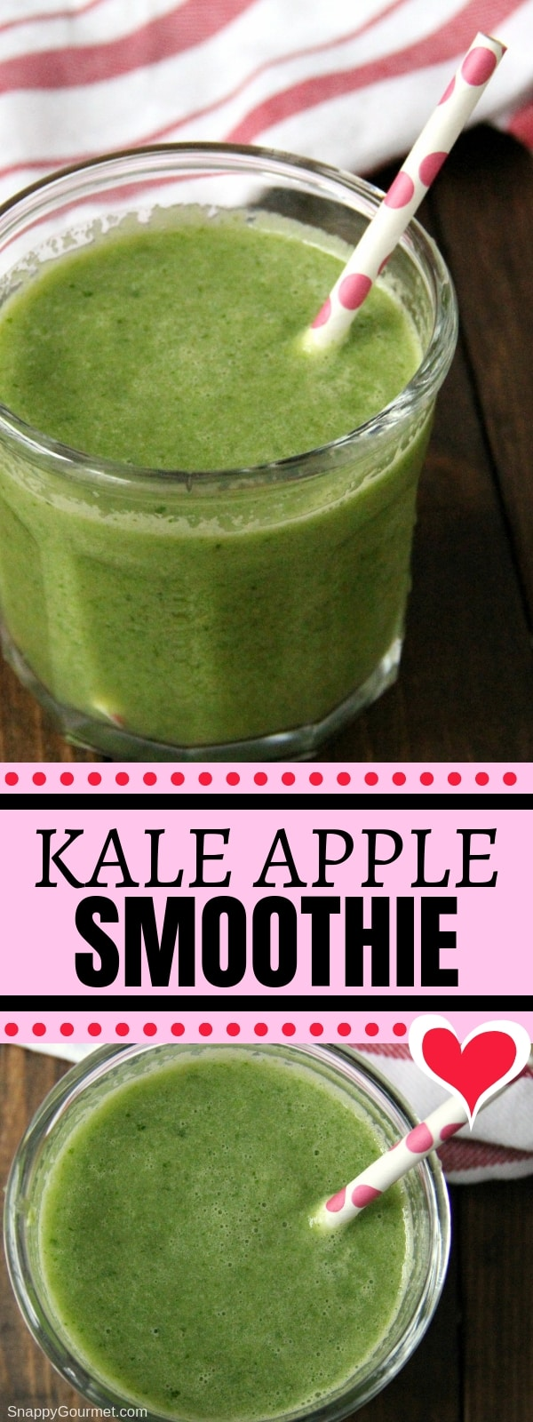 Kale Apple Smoothie collage