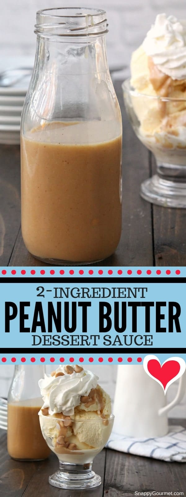 peanut butter sauce collage
