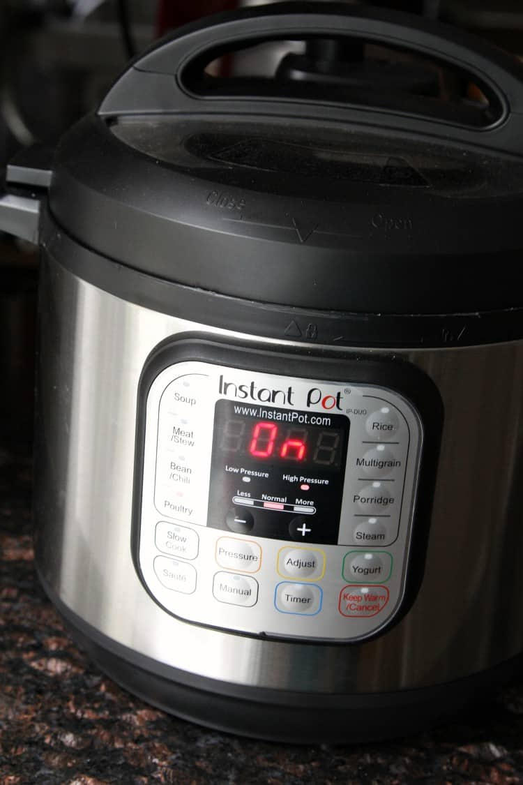 instant pot while cooking shredded chicken