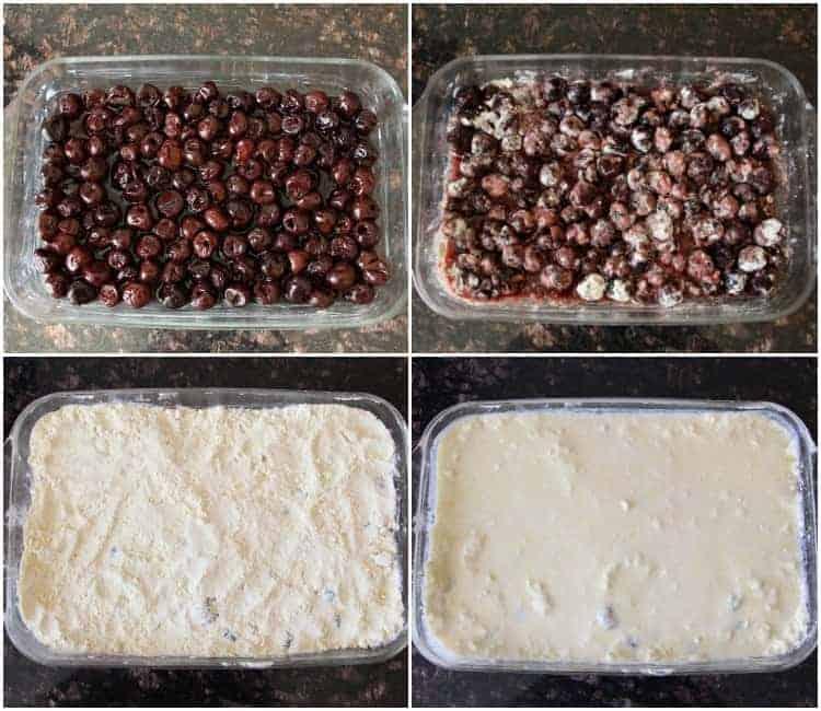 Cherry Dump Cake ingredients