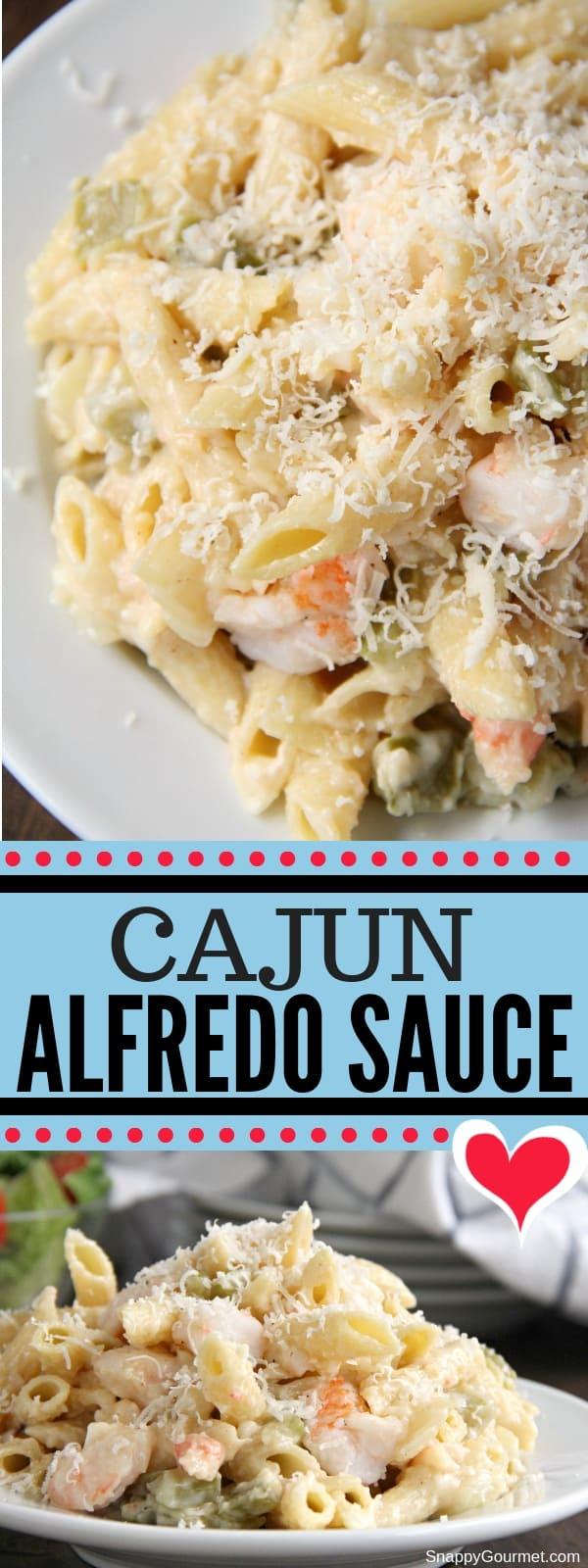Cajun Alfredo Sauce collage