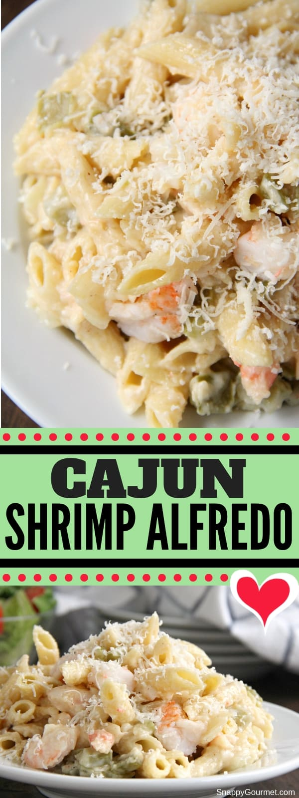 Cajun Shrimp Alfredo collage