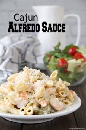 Cajun Alfredo Sauce on pasta