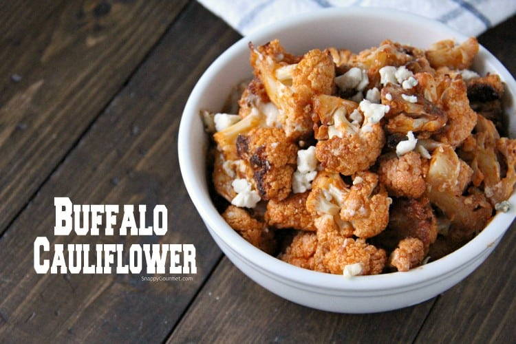 buffalo cauliflower bites in bowl
