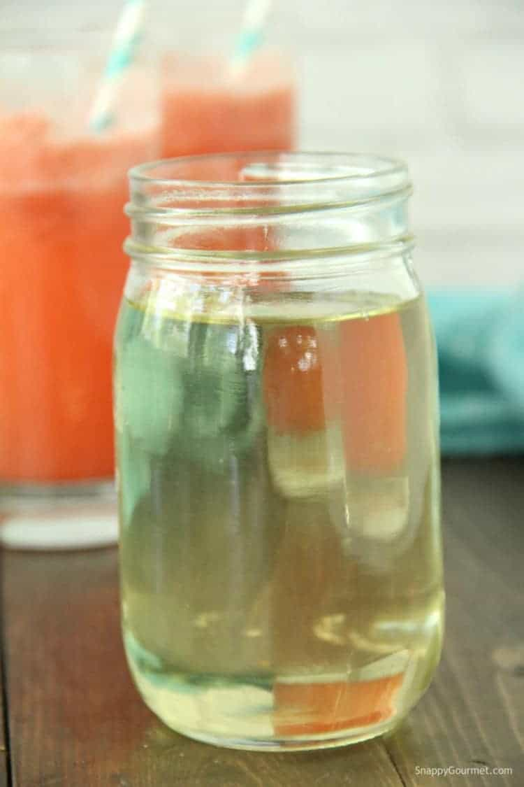 Mint Simple Syrup in mason jar