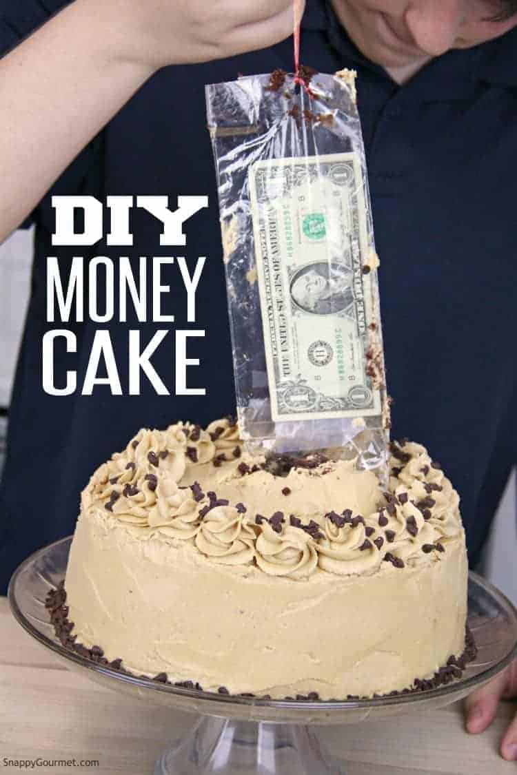 Money coming out of Money Cake