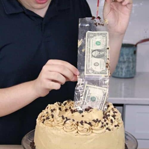 Admirable Money Cake Diy Fun Cake With Money Inside Snappy Gourmet Funny Birthday Cards Online Alyptdamsfinfo