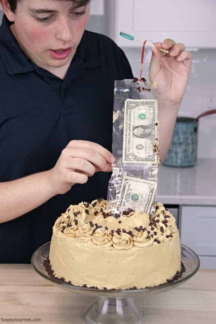 Outstanding Money Cake Diy Fun Cake With Money Inside Snappy Gourmet Funny Birthday Cards Online Fluifree Goldxyz