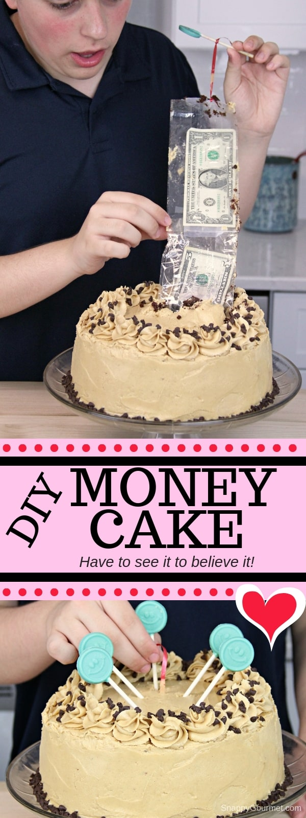Money Cake collage