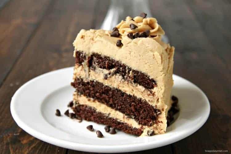 One-Bowl Chocolate Cake slice on plate