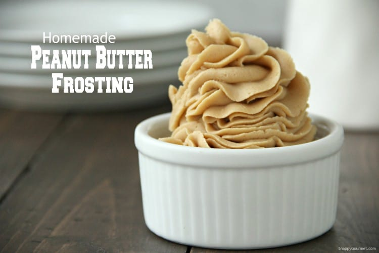 fluffy and creamy peanut butter frosting in ramekin